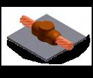 soldadura, cobre, superficie