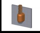 soldadura, cobre, superficie, enlace