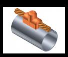 cobre, soldadura, tubo, union