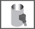 Cable terminal ascendente a tubo vertical