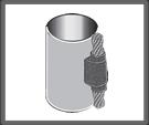 Cable pasante vertical a tubo vertical