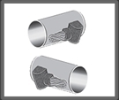 Cable terminal horizontal a tubo paralelo