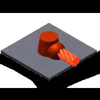 superficie, cable, soldadura