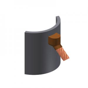 tubo, moldes, cable, soldadura, cobre