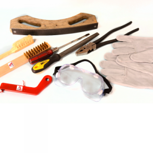 moldes, chispero, cepillo, cobre, guantes