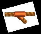 horizontal, soldadura, mallas a tierra, cobre