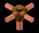 cobre, soldadura, cable a varilla