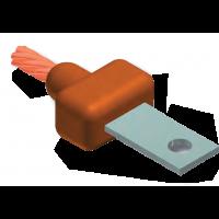 moldes, soldadura, cable, uniones, cobre